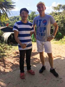 Martin Tuerlings met Thaise koffieboer